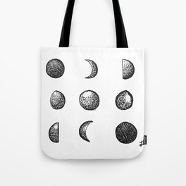 Phases of the Moon // Lunar Cycle Tote Bag