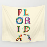 florida Wall Tapestries featuring Florida by Fimbis