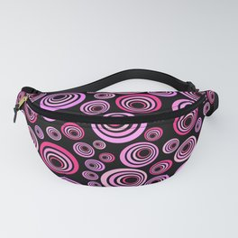 Pink and Purple Psychedelic Retro Pattern Fanny Pack