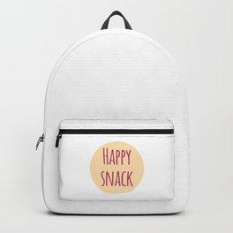 Happy Snack Funny Inspirational Design Backpack