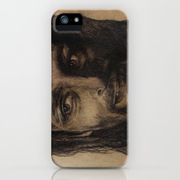 Underworld film. Coal portrait of lycan Lucian. actor Michael Sheen. Портрет углем ликана Люциана iPhone Case