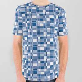 Mod Gingham - Blue All Over Graphic Tee