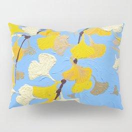 Yellow ginkgo biloba leaves Pillow Sham
