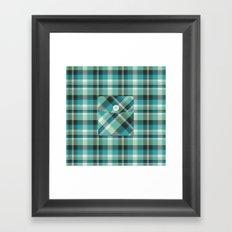 Plaid Pocket - Teal Blue/Green Framed Art Print