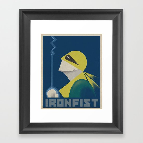IronFist - Yong spirit Framed Art Print