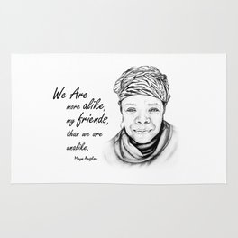 Maya Angelou Quote from Human Family Rug