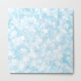 Icy Snowflakes Metal Print