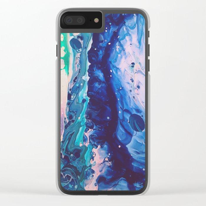 Aquatic Meditation Clear iPhone Case