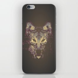 Wolf in the darkness  iPhone Skin