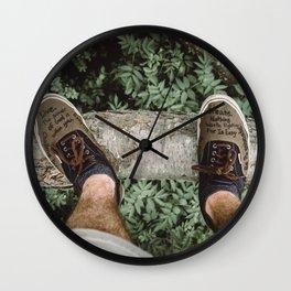 shoes talk Wall Clock