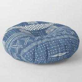 Mud Cloth Geometric Stripe Navy Floor Pillow