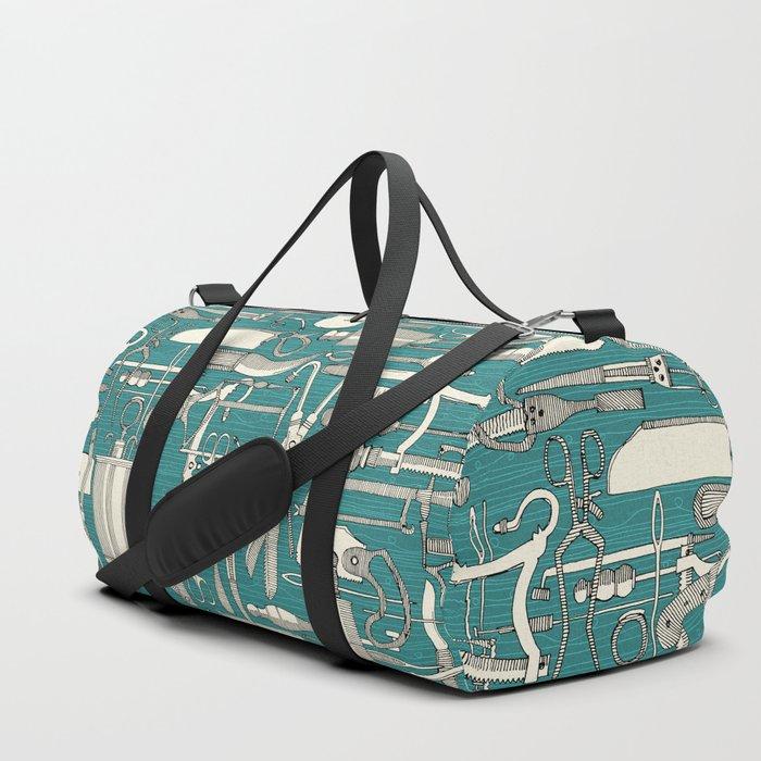 fiendish incisions blue Duffle Bag