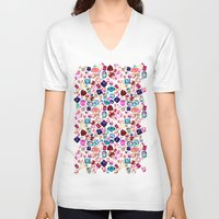 gem V-neck T-shirts featuring GEM by Liz Haywood