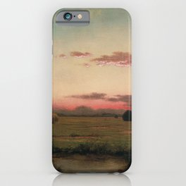 The Marshes At Rhode Island 1866 By Martin Johnson Heade | Reproduction iPhone Case