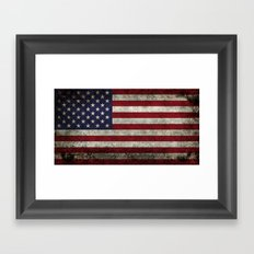 USA flag with Grungy textures Framed Art Print