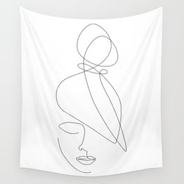 Hairstyle Lines Wall Tapestry