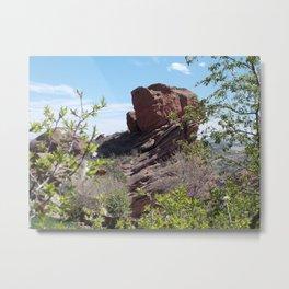 Red Rocks and Blue Skies Metal Print