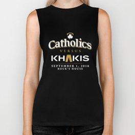 catholics nersus khakis nerd Biker Tank