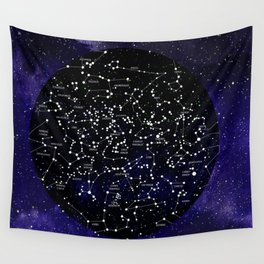 Celestial Map - Northern Hemisphere  Wall Tapestry