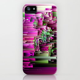 Glitchtastic - Abstract Pixel Art iPhone Case