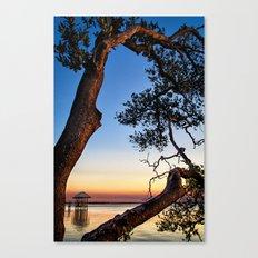 Framed Boardwalk Canvas Print