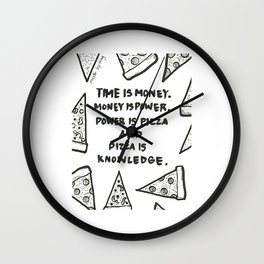 Pizza is power Wall Clock