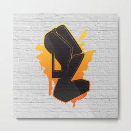L - Graffiti letter Metal Print