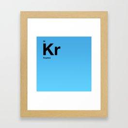 Krypton Framed Art Print