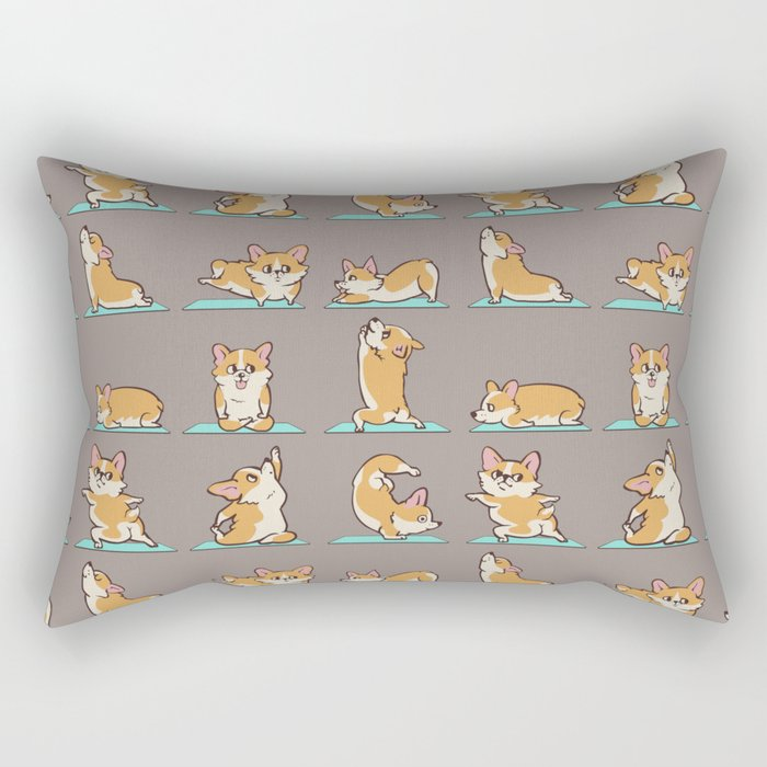 Corgi Yoga Rectangular Pillow
