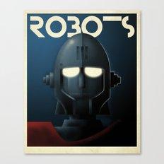 Robots - Crag Canvas Print