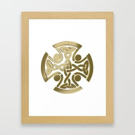 Celtic golden knot Framed Art Print
