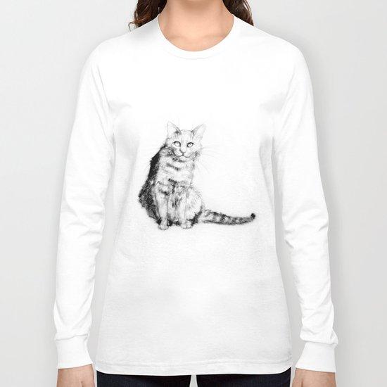 ちょっとしぶい猫 Long Sleeve T-shirt