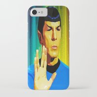 spock iPhone & iPod Cases featuring Spock by The Art Of Gem Starr