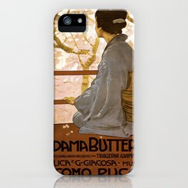 Vintage poster - Madama Butterfly iPhone Case