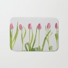 Rose tulips Bath Mat