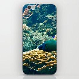 Coral Blue iPhone Skin