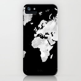 Design 70 world map iPhone Case