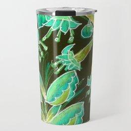 Irish Garden, Lime Green Flowers Dance in Joy Travel Mug