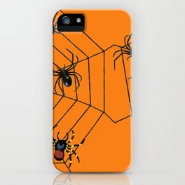 big Spiders in two cobweb iPhone Case