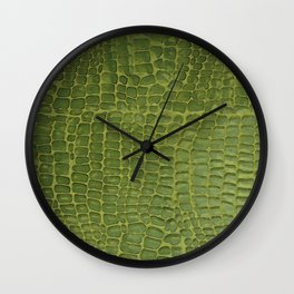 Alligator Skin Wall Clock