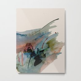 Begin again [2]: an abstract mixed media piece in a variety of colors Metal Print