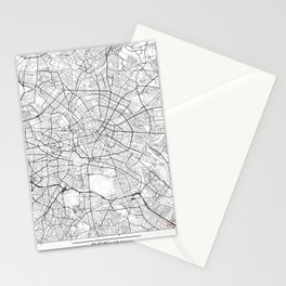Berlin Map White Stationery Cards