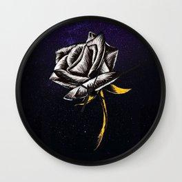 Space Flower Wall Clock