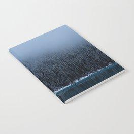 Foggy Lake Louise Shoreline Notebook