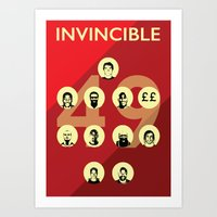 arsenal Art Prints featuring Arsenal Invincibles by Tom Cronin