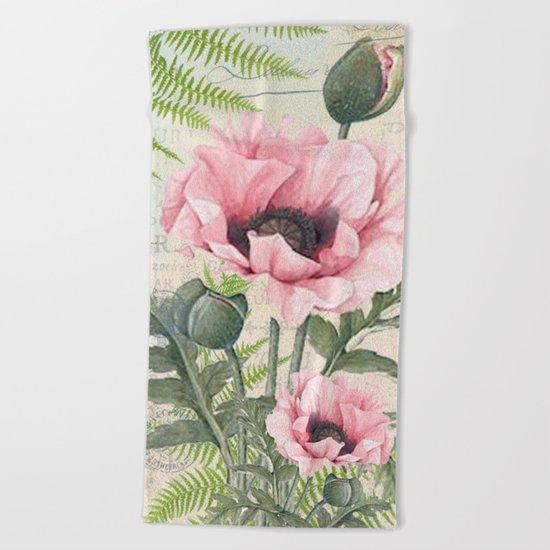 Vintage Flowers #24 Beach Towel