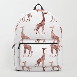 White & Rose Gold Giraffe Pattern  Backpack