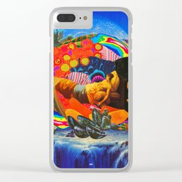We are such stuff as dreams are made on; and our little life is rounded with a sleep. Clear iPhone Case
