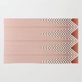 Art Deco Geometric Arrowhead Dusty Peach Design Rug