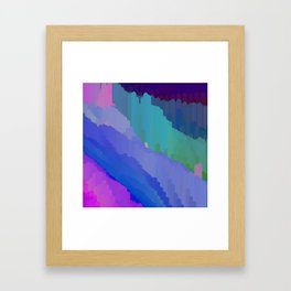 Abstact waterfall Framed Art Print